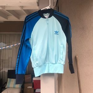 Adidas Trefoil Zip Up Sweater
